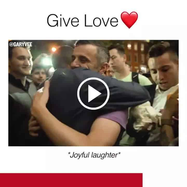 Gary Vee Personal Brand Video Post With Title Give Love
