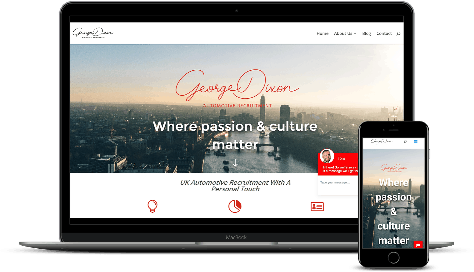 Elevate Digital Website Design Mockup - George Dixon
