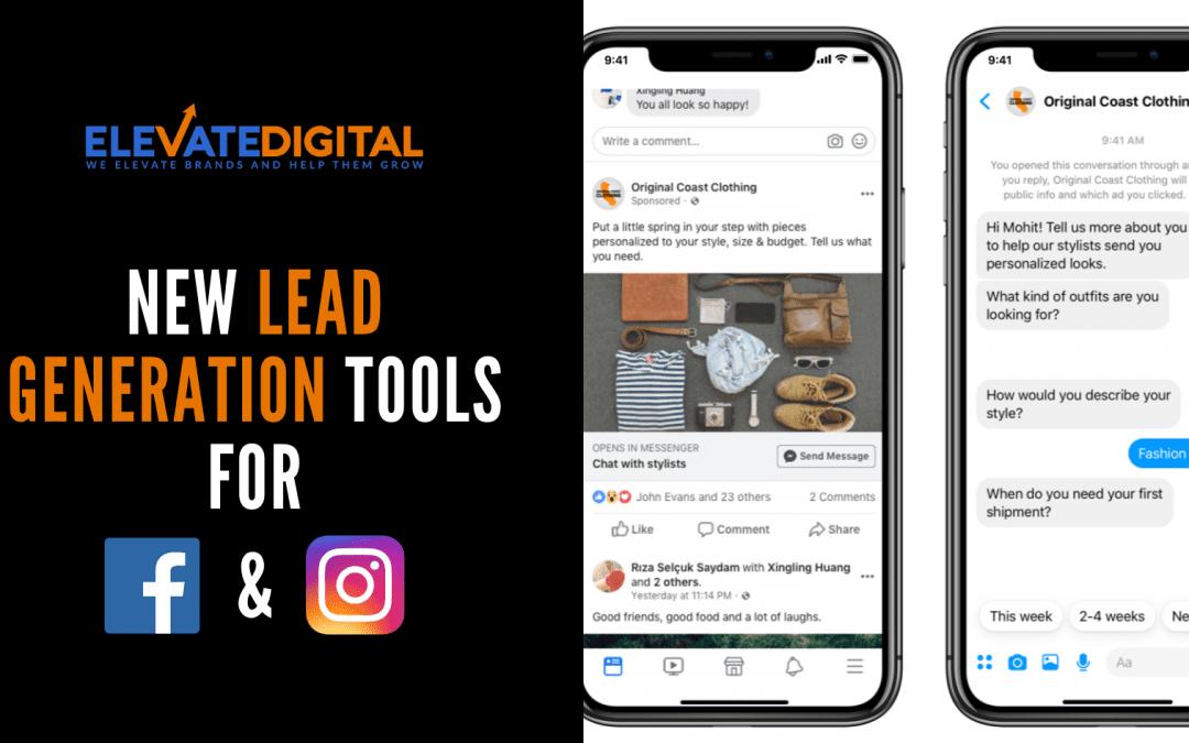 New Facebook Lead Generation Tools