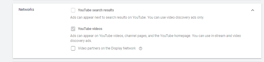 Google Ads YouTube Videos Network