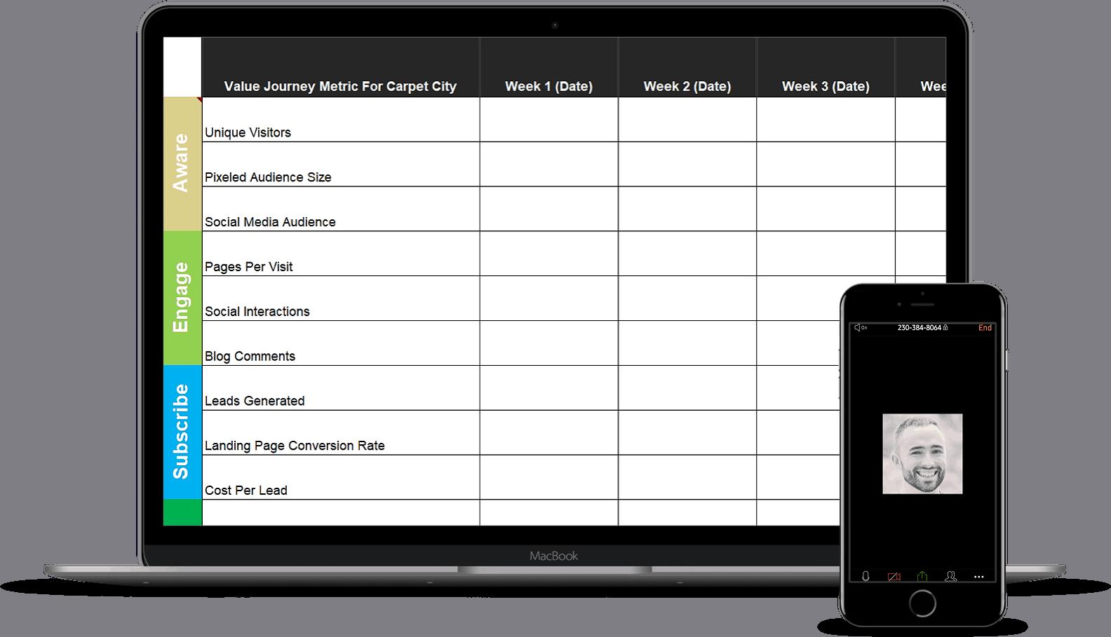 Responsive Website Design Showing ECommerce Website On Laptop And Mobile