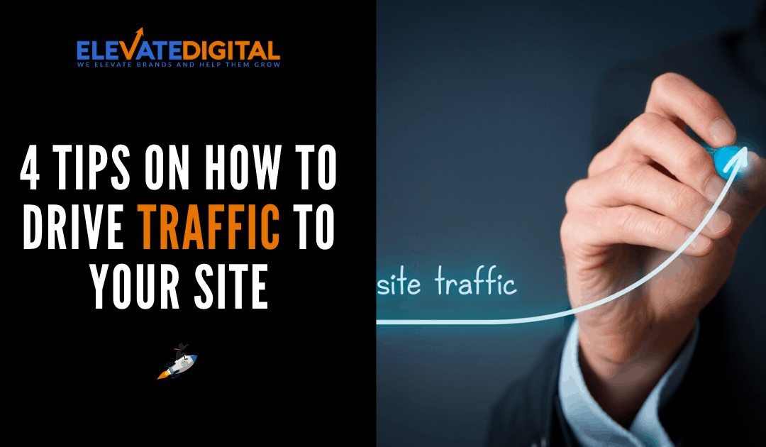 Elevate Digital Blog - Man Drawing Upwards Graph for Traffic -How To Drive Traffic To Your Site