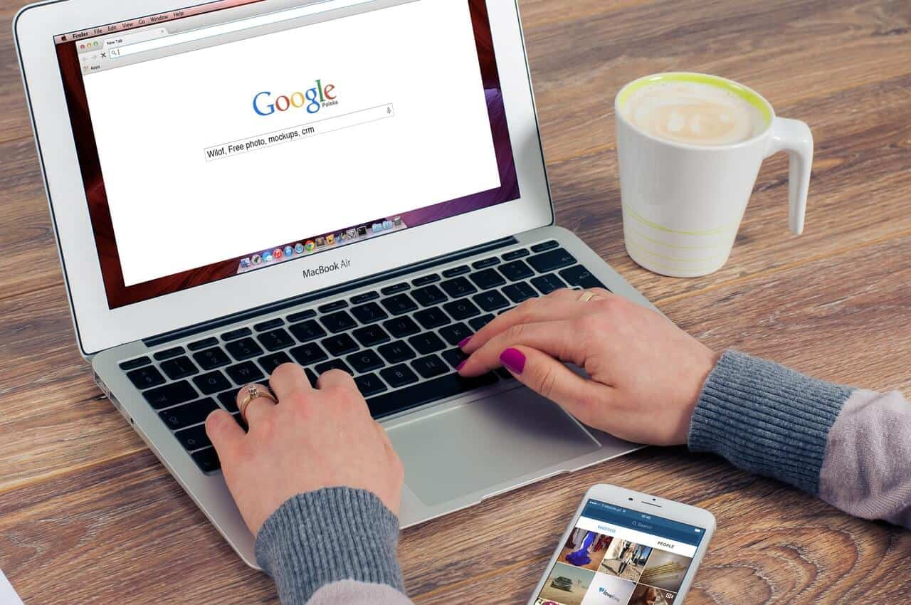 Google Search on Laptop - SEO, Search Engine Optimisation