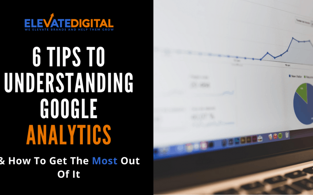 Image of laptop with Google Analytics Graph - Understanding Google Analytics Blog