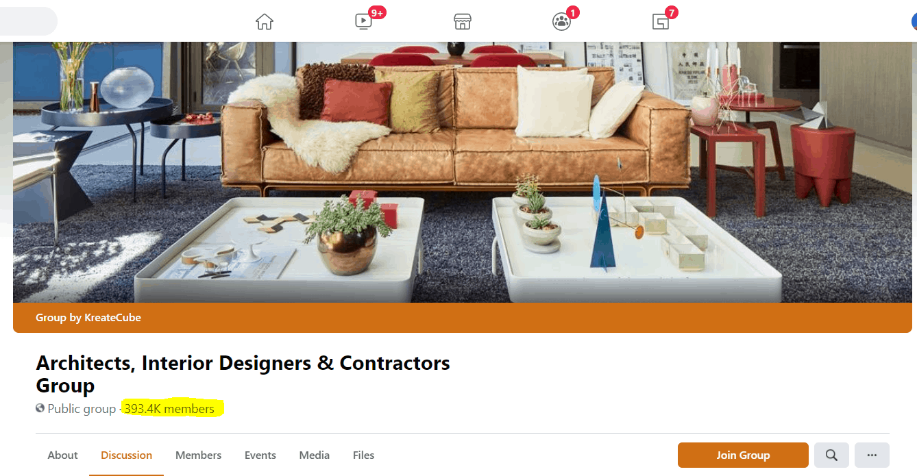 Interior Designers & Architects Facebook Group With Over 300k Members